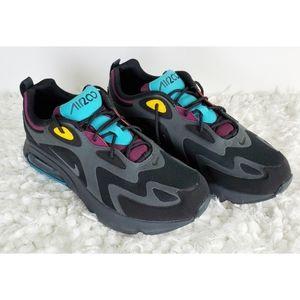 New Nike air max 200 black blue purple sneakers